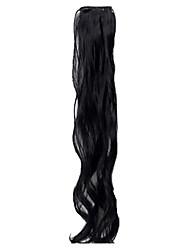 clip de 19 pulgadas en las extensiones de pelo sintético postizos 3 colores disponibles
