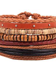 Bracelet Bracelets en cuir Cuir Forme Géométrique Mode Ajustable Quotidien Décontracté Regalos de Navidad Bijoux Cadeau Couleur Assortie,