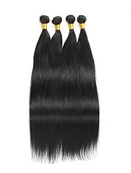 4 Stück Gerade Menschliches Haar Webarten Brasilianisches Haar Menschliches Haar Webarten Gerade