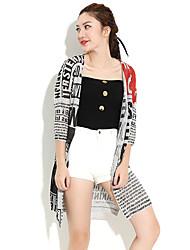 HANBELLE® Damen Hemdkragen 3/4 Ärmel Pullover & Cardigan Weiß / Grau / Mandelfarben-9005#