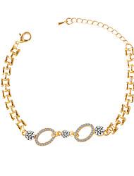 Bracelet/Chain Bracelets Alloy / Rhinestone Round Fashionable Daily / Casual Jewelry Gift Gold