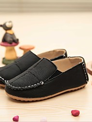 Unisex Loafers & Slip-Ons Spring Fall Leather Casual Flat Heel White Black Yellow