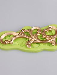 La forma de las vides molde de encaje funda de fundición de silicona pastel de molde stampi 3d silicona pastel de cocina accesorios de color al azar