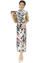 N/C Une pièce Manches courtes Long Vert Lolita Polyester
