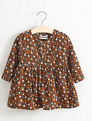 Girl's Casual/Daily Floral DressCotton Spring / Fall