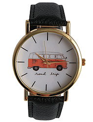 Casual Style Public Bus Pattern Girls Watch