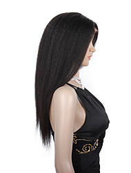 20-24inch Pure virgin brazilian human hair wigs kinky straight glueless/full lace human hair wigs