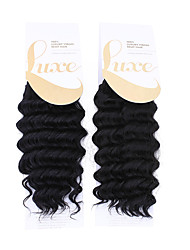 "1PC Luxury Deep Wave 14"" Color1 Synthetic Hair Extension Hair weave Synthetic Hair Weft 100g"