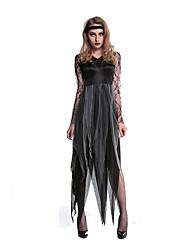 Fantasias de Cosplay Festa a Fantasia Vampiros Festival/Celebração Trajes da Noite das Bruxas Estampado Vestido Mais AcessóriosDia Das