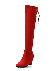 Women's Boots Spring / Fall / Winter Fashion Boots Leatherette/ Casual Wedge Heel Others Black / Brown / Red Others