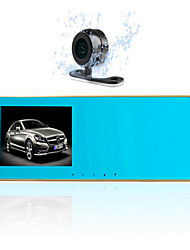 G30 Double Mirror Driving Recorder HD 4.3 Inch Mirror Before And After Double Record 1080p
