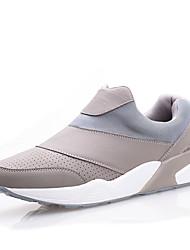 Femme-Extérieure / Décontracté / Sport-Noir / Blanc / Gris-Talon Plat-Ballerines-Chaussures d'Athlétisme-Similicuir