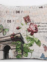 fronha de linho / case, tecido tradicional / clássico flor recurso arco triunfal