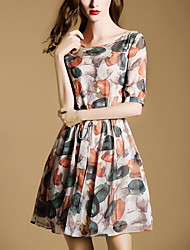 Women's Going out / Beach / Holiday Vintage / Street chic / Sophisticated A DressFloral Round