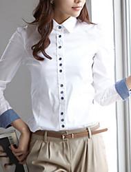 Office Lady White Basic Shirt(White)