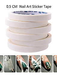 1PCS 17m*0.5cm French Manicure Nail Art Tips Creative Nail Stickers Masking Tape Nail Accessories Nail Art