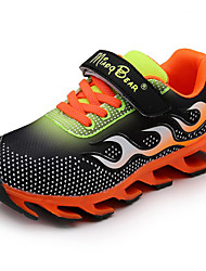 Girl's Sneakers Spring / Fall Comfort / Round Toe PU Athletic / Casual Flat Heel Others / Hook & Loop Black