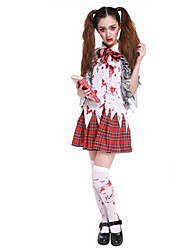 Men's Halloween Horror Bloody  Student Clothes Cosplay Costume