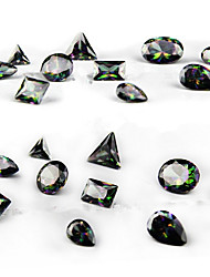 10PCS Difformity Luxurious  Black Color Intrigue  Zircon Jewel Nail Art Decorations