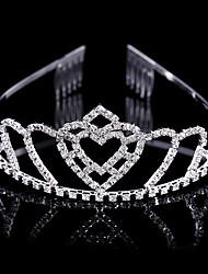 Fashion New-style Rhinestone Double Heart Shape Bride Hair Decoration