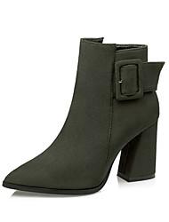 Damen-Stiefel-Kleid / Lässig / Party & Festivität-Vlies-Blockabsatz-Komfort / Neuheit / Stifelette / Gladiator / Passende Schuhe & Taschen