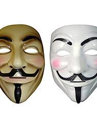 V for Vendetta Party Mask Anonymous Guy Fawkes Fancy Dress Adult Costume Accessory Macka Mascaras Halloween