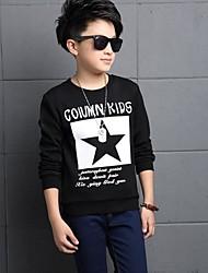 Casual/Dagelijks-Print-Katoen-Winter-Boy's-T-shirt-Zwart / Wit
