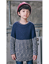 Boy's Going out Color Block Sweater & CardiganAcrylic Winter Blue