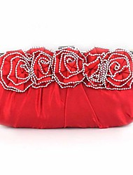 L.west Women Elegant High-grade The Rose Flower Diamonds Evening Bag
