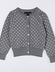 Mädchen Pullover & Cardigan-Lässig/Alltäglich Punkte Baumwolle Herbst Grau