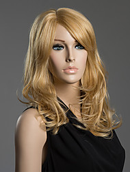 Stylish Body Wave Shaggy Wavy Human Virgin Remy Hand Tied-Top Capless Woman's Hair Wig