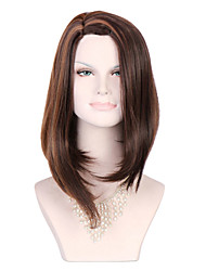 Synthetic Wigs 2028'' Long Ombre Brown Wig Kinky Wavy Straight Hair