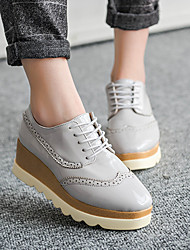 Women's Flats Spring Summer Fall Rubber Outdoor Flat Heel Others Black Red Gray Nude