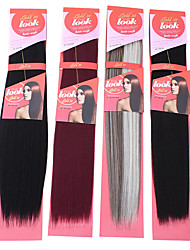 1PC New Look Yaki Wave 22 Straight Synthetic Hair Extension Hair Weave Various Colors
