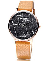 Women's Fashion Watch Wrist watch Quartz / Leather Band Cool Casual Black White Grey Khaki