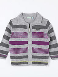 Boy's Casual/Daily Striped Sweater & Cardigan,Cotton Fall Gray