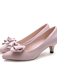 Women's Heels Spring / Summer / Fall Heels / Pointed Toe / Closed Toe  Casual Low Heel Bowknot Walking