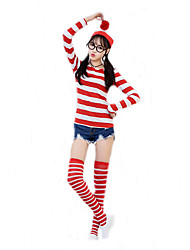 Cosplay Costumes Burlesque/Clown Movie Cosplay Red Solid Top / Socks / Hat Halloween / Christmas / New Year Female Cotton
