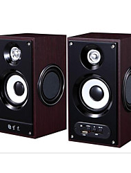 Purple SE256 Computer Speaker 220V Active Speaker 2 Wooden Speakers U Disk SD Card Speaker