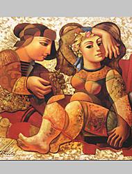 Ручная роспись маслом людей 1211-PE0065