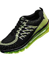 Femme-Sport-Bleu / Vert / Noir et rouge-Talon Plat-Confort-Sneakers-Tissu