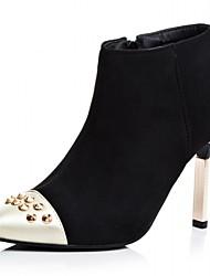 Feminino-Saltos-Saltos / Botas de Cowboy / Botas de Neve / Botas Cano Curto / Bico Fino / Botas Montaria / Botas da Moda / Botas de