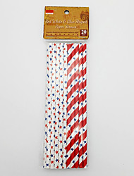 The fourth of July Disposable paper straw The flag of the United States