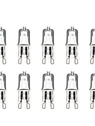 G9 40W 3000-3500K Blanc Chaud Ampoule halogène lumière de lampe de globe (220V, 10pcs)