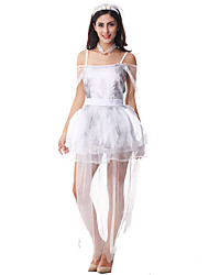 Costumes More Costumes Halloween White Solid Terylene Dress / More Accessories