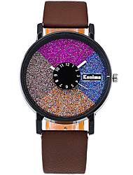 Women's Quartz Casual Fashion Watch PU Belt Round Alloy Multi-colored Shining Dial Watch Cool Watch Unique Watch