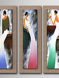 Modern Wall Art Pictures Abstract People Oil Painting Hand-Painted On Linen Home Decoration With Frame