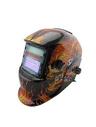TIG Welders Welding Protective Cap Becomes Automatic Solar Light Skull Mask