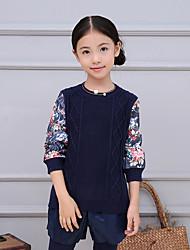 Mädchen Bluse / Pullover & Cardigan-Lässig/Alltäglich Blumen Acryl / Polyester / Nylon Winter / Frühling / Herbst Blau