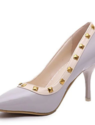 Women's Heels Summer / Fall Pointed Toe Patent Leather Dress Stiletto Heel Beading Pink / White / Gray Others